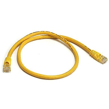 Monoprice® 2' 24AWG Cat6 UTP Ethernet Network Cable, Yellow