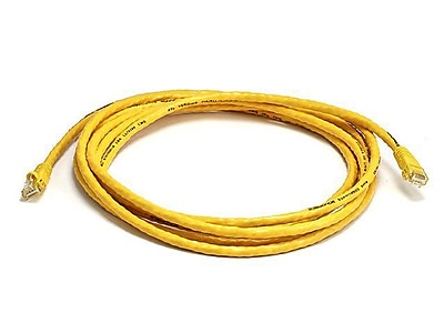 Monoprice® 10' 24AWG Cat6 UTP Ethernet Network Cable, Yellow