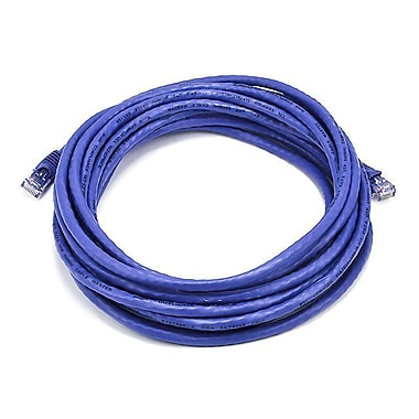 Monoprice® 20' 24AWG Cat6 UTP Ethernet Network Cable, Purple