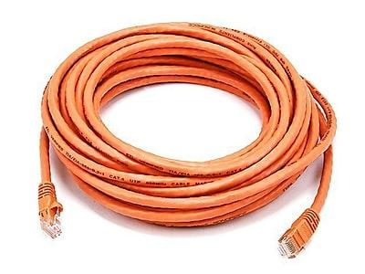 Monoprice 105021 30' CAT-6 Ethernet Network Cable, Orange