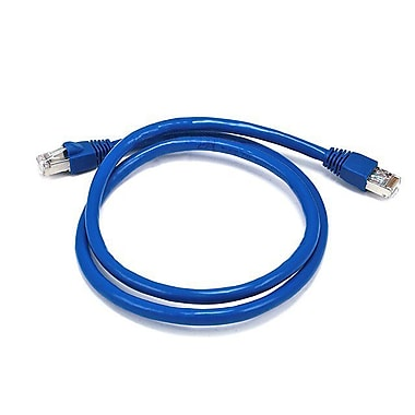 Monoprice® 3' 24AWG Cat6a STP Ethernet Network Cable, Blue