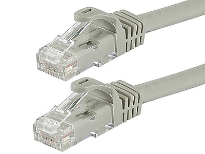 Monoprice® FLEXboot Series 10' 24AWG Cat6 UTP Ethernet Network Cable, Gray