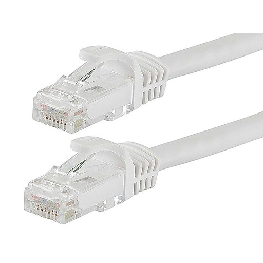 Monoprice 109825 14' CAT-6 Ethernet Network Cable, White