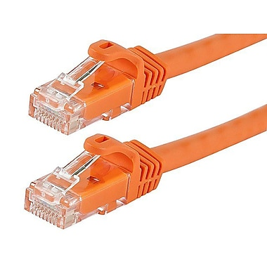 Monoprice® FLEXboot Series 3' 24AWG Cat6 UTP Ethernet Network Cable, Orange