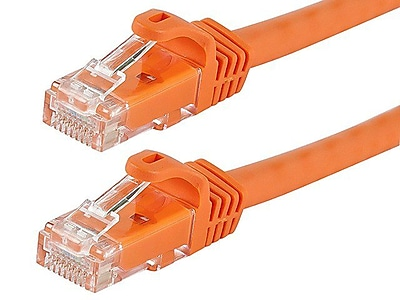 Monoprice® FLEXboot Series 2' 24AWG Cat6 UTP Ethernet Network Cable, Orange