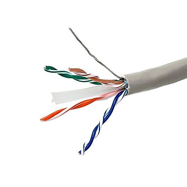 Monoprice® 1000' 24AWG Cat6 UTP Solid Bulk Ethernet Network Cable, Gray