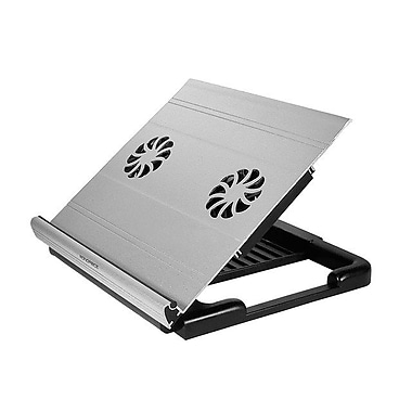 Monoprice® Laptop Riser Cooling Stand With Built-In 70mm Fan, Black