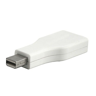 Monoprice® Mini DisplayPort Male to DisplayPort Female Adapter, White