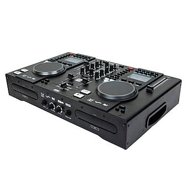 Monoprice® 614700 All-In-One DJ System With Dual CD and USB Flash Players