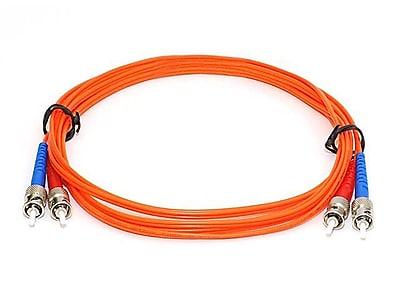 Monoprice® 30 m OM1 ST to ST Fiber Optic Cable, Orange