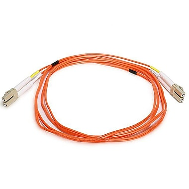 Monoprice® 2 m OM1 LC to LC Fiber Optic Cable, Orange