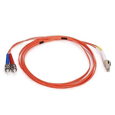 Monoprice® 2 m OM1 LC to ST Fiber Optic Cable, Orange
