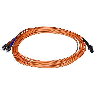 Monoprice® 5 m OM1 MTRJ Female to ST Fiber Optic Cable, Orange
