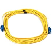 Monoprice® 5 m LC to LC Single Mode Duplex Fiber Optic Cable, Yellow