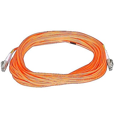 Monoprice® 15 m OM1 LC to LC Fiber Optic Cable, Orange