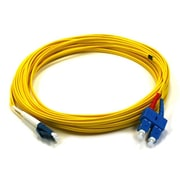 Monoprice® 10 m LC to SC Single Mode Duplex Fiber Optic Cable, Yellow