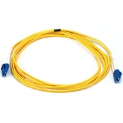 Monoprice® 30 m LC to LC Single Mode Duplex Fiber Optic Cable, Yellow