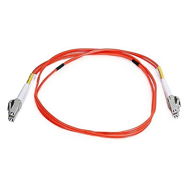 Monoprice® 1 m OM2 LC to LC Fiber Optic Cable, Orange
