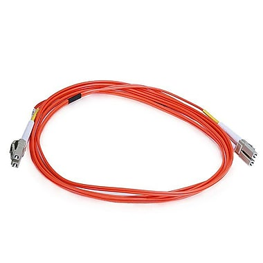 Monoprice® 2 m OM2 LC to LC Fiber Optic Cable, Orange