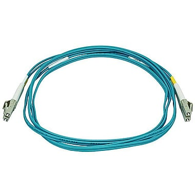 Monoprice® 2 m OM3 LC to LC Fiber Optic Cable, Aqua