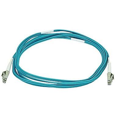 Monoprice® 30 m OM3 LC to LC Fiber Optic Cable, Aqua