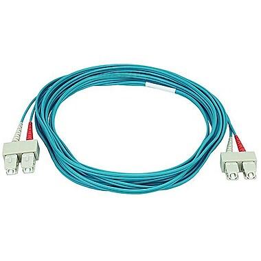 Monoprice® 5 m OM3 SC to SC Fiber Optic Cable, Aqua