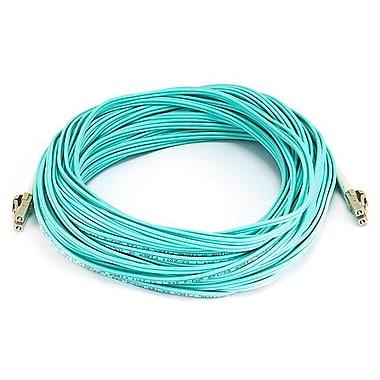 Monoprice® 25 m OM2 LC to LC Fiber Optic Cable, Aqua