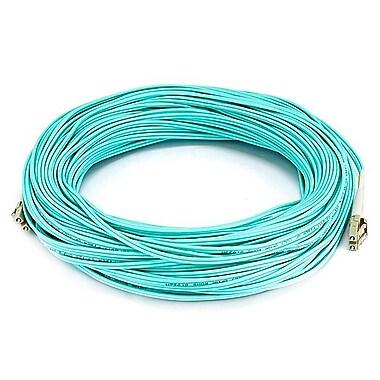 Monoprice® 40 m OM2 LC to LC Fiber Optic Cable, Aqua