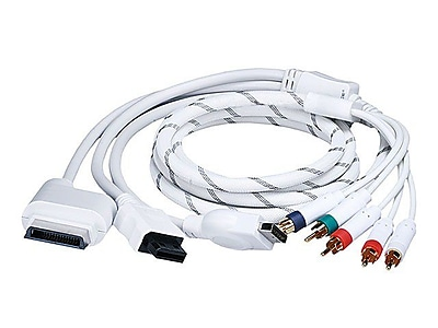 Monoprice® 105638 6' 4 In 1 Component Cable For Xbox 360/Wii/PS3/PS2