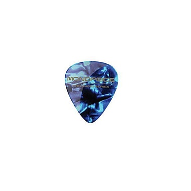 Monoprice® 12 Piece Medium Celluloid Guitar Picks, Abalone Blue