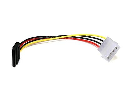 Monoprice® 0.5' SATA 15pin Female to Molex 4pin Male Power Adapter