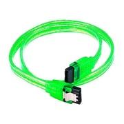 Monoprice® 1.5' SATA Cable With Locking Latch, UV Green