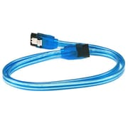 Monoprice® 2' SATA Cable With Locking Latch, UV Blue