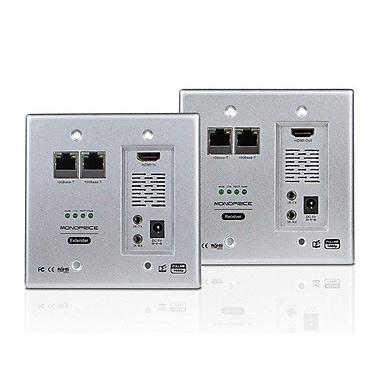 Monoprice® 110224 HDBaseT Wall Plate Extender Kit