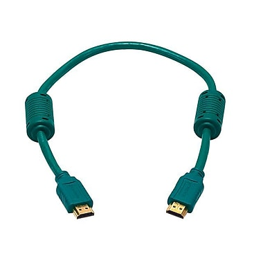 Monoprice® 1.5' High Speed HDMI Male to Male 28AWG Cable With Ferrite Cores, Green