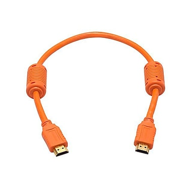 Monoprice® 1.5' High Speed HDMI Male to Male 28AWG Cable With Ferrite Cores, Orange