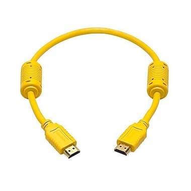 Monoprice® 1.5' High Speed HDMI Male to Male 28AWG Cable With Ferrite Cores, Yellow