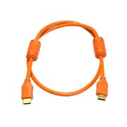 Monoprice® 3' High Speed HDMI Male to Male 28AWG Cable With Ferrite Cores, Orange