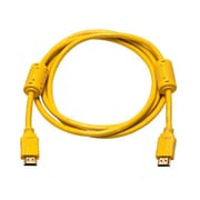 Monoprice® 6' High Speed HDMI Male to Male 28AWG Cable With Ferrite Cores, Yellow
