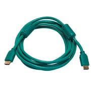 Monoprice® 10' High Speed HDMI Male to Male 28AWG Cable With Ferrite Cores, Green