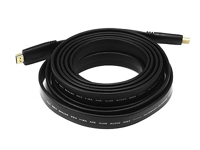 Monoprice® 15' CL2 Flat High Speed HDMI Male to Male 24AWG Cable, Black