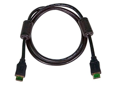 Monoprice® 4' High Speed HDMI Male to Male 28AWG Cable With Ferrite Cores, Black