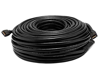 Monoprice® 100' CL2 HDMI Male to Male 26AWG Cable With Built-in Equalizer, Black