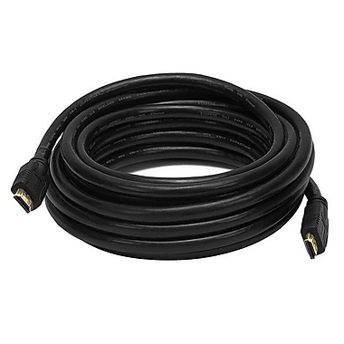 Monoprice® 20' CL2 HDMI Male to Male 24AWG Ethernet Cable, Black
