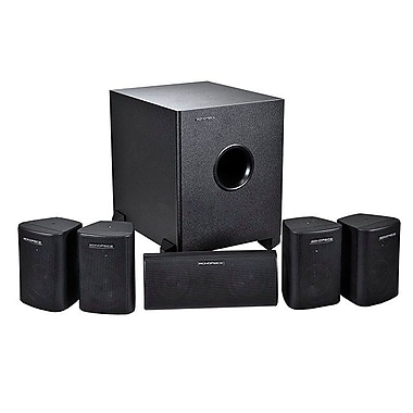Monoprice® 125W 5.1 Channel Home Theater Speaker System, Black