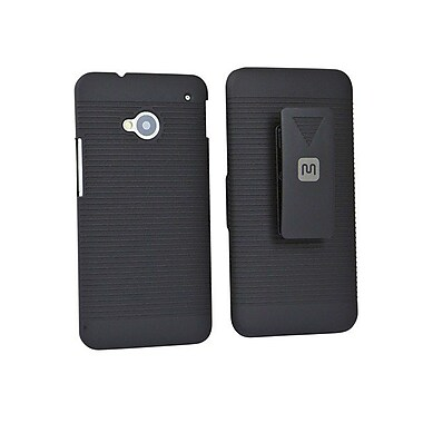 Monoprice® Slide Out Case With Belt Clip For HTC One, Black