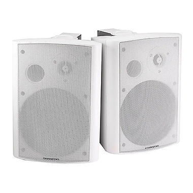 Monoprice® 25W 2 Way Active Wall Mount Speaker, White