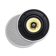 """Monoprice® 80W 6 1/2"""" Easy-Install In-Ceiling Speaker, White"""