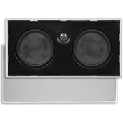 "Monoprice® 80W 5 1/4"" Center Channel Micro-Flanged In-Wall Speaker, White"