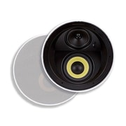 "Monoprice® 160W 6.5"" Dual Woofer Micro Flange In-Ceiling Speaker, White"